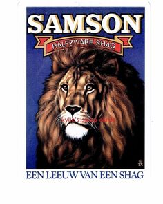 R94 SINGLE swap playing cards CIGARETTES SMOKING AD Samson Lion Shag Tobacco