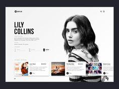 BIOFILM | Lily Collins Website Design Inspiration, Blog Website Design, Minimal Web Design, Web Ui Design, Design Resume, Design Layouts, Design Design, Graphic Design, Cv Website
