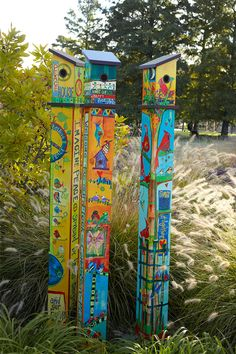 """welcome"" 6' Birdhouse Peace Pole Pp233"