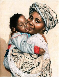 The Wonderful Obsessions: The True Story Behind the Drawing – African Mother and Child