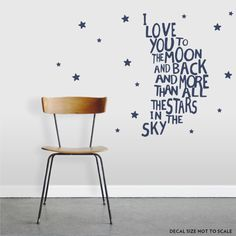 Love You To The Moon And Back Wall Quote Decal