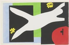 Henri Matisse. The Swimmer in the Tank (La Nageuse dans l'aquarium) from Jazz. 1947. Pochoir from an illustrated book with twenty pochoirs. MOMA NYC