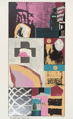 Kitaj 'Republic of the Southern Cross', 1965 © The estate of R. Collages, Collage Art, Stencil Printing, Screen Printing, Claude Monet, Illustrations, Illustration Art, Mises En Page Design Graphique, Vincent Van Gogh