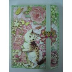 Punch Studio Journal Pocket Brooch Kitten Pink