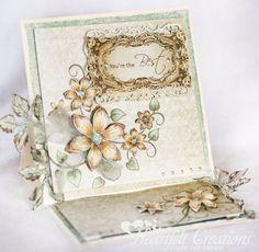 Heartfelt Creations   Sunny Vintage Easel Card