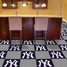 new york yankees team carpet tiles these will be in my room. beautiful ideas. Home Design Ideas