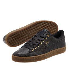 Look what I found on #zulily! Black & Gold Basket Bball Sneaker - Men #zulilyfinds