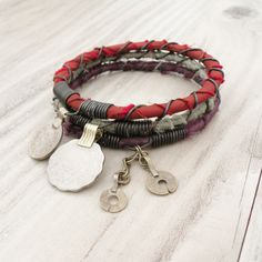 gypsy bangles   Silk Road Gypsy Bangle Stack - Herat - 3 Bohemian Tribal Bracelets ...