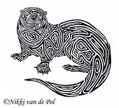 otter art | Otter tribal by ~Nikki-vdp on deviantART