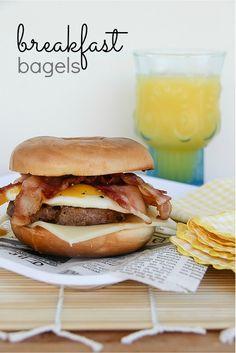 Breakfast Bagel Recipe | First Street vs National Brand comparison. #choosesmart #cbias #shop