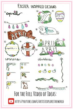 Easter Bullet Journal Ideas.