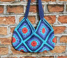 gehäkelte Strandtasche Umhängetasche BOHO Gypsy von CrochetRagRug