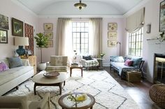 I'm obsessed with Moroccan rugs, I need one in the living room.  I love the blush color and the eclectic, cozy, linen-y, colorful vibe.