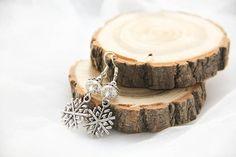 Snowflake Earrings Snowflake Jewellery Frozen by kskalozubova