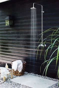 An outdoor shower would be great in a tropical climate! Not so much in Ohio