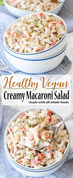 Healthy Vegan Macaroni Salad   Veggies Don't Bite