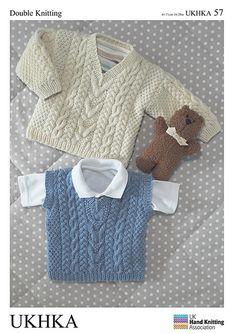 Doble Knitting DK patrón de bebé Con Botones Chaqueta Cuello Jumper Sweater ukhka 76
