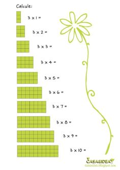 olha outra coisa para entrender a tabuada CASA&IDEA: Matemática - 2o ano - Tabuada de 3 - Série: Apoio de ensino em casa: