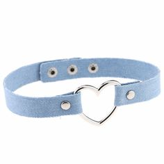2017 Hot Sale Fashion Rock Cotton Denim Choker Necklace Sliver Plated Hollow Heart Dangle Necklaces Jewelry For Women Free Ship