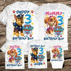 Paw Patrol Family Birthday Shirt Personalized Outfit