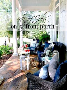 4th on the Porch at Sunset Ideas from Duke Manor Farm.com