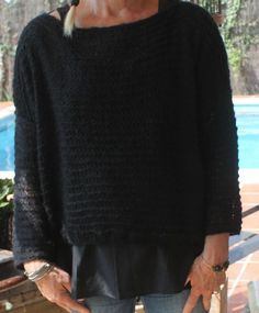 New knitting patterns sweaters oversized garter stitch 52 Ideas Knitting Designs, Knitting Patterns Free, Knit Patterns, Free Knitting, Baby Knitting, Baby Cocoon Pattern, Pull Crochet, Crochet Videos, Garter Stitch
