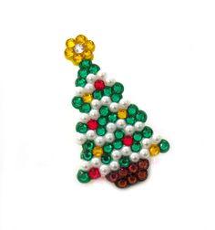 New to VelvetVolcano on Etsy: Sparkly Christmas Tree Brooch - Festive Fir Tree Pin Badge - Rhinestone Encrusted Xmas Jewellery (11.00 GBP)