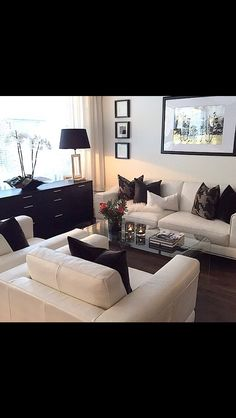 Creme and Black Living Room