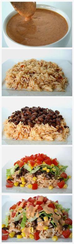 Burrito Bowl with Creamy Chipotle Sauce #delicious #recipe #cake #desserts #dessertrecipes #yummy #delicious #food #sweet