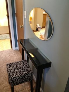makeup vanity shelf | Ikea Makeup Vanity Tutorial Small Shelf Vanity with Adils ... | Home. With a different mirror though.