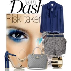 Risk Taking Blue by scadet on Polyvore featuring мода, Reiss, Reed Krakoff, Marc Jacobs, Dorothy Perkins, NARS Cosmetics, Chictopia, color block shoes, cuff bracelet and blouse