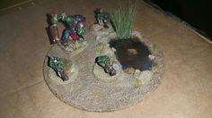 Warhammer figurines and base
