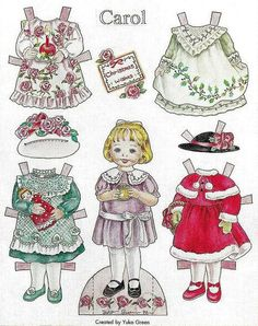 Doll World - Yuko Green paper dolls CAROL