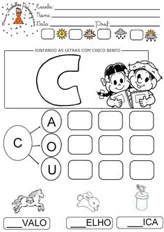 imagem-11 Speech Language Therapy, Speech And Language, Learn Portuguese, Homeschool, Activities, Education, Learning, Chico Bento, Professor
