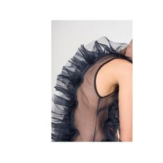 ROBERTS | WOOD SS17 look book  Detail | sleeveless bias-cut silk hand-linked scallop dress in dark blue  Photography @iringo.demeter Styling @lunekuipers Makeup @virginiabertolanimakeup Model @aliceblomfeldt Styling assistant @saijamallinen Shoes by @petrucha