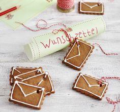 Rezept: Süße Weihnachtsbriefe aus Lebkuchen - Ideal als Geschenk!