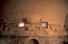 Leptis Magna, Hunting Baths - 200 AD Roman History, Roman Art, Art And Architecture, Baths, Hunting, Wall Lights, Lighting, Home Decor, Romans
