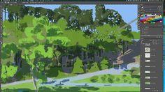 木を描くのが好きだ木のお仕事お待ちしてます#wip #process #trees #woods #forest #workinprogress #illustration #art #tatsurokiuchi