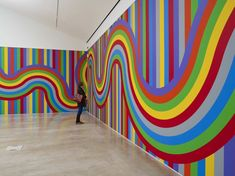 Sol leWitt Wall Drawing #1136, installation view at Turner Contemporary