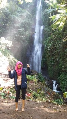 Baung Waterfall , Kawi Mountain , Malang - East Java - Indonesia