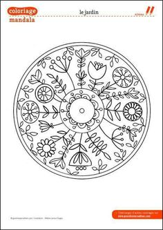 Coloriage Flowery embroidery esque Mandala - This is kind of a cool inspiration for a tattoo. Geometric Embroidery, Hand Embroidery Patterns, Ribbon Embroidery, Embroidery Art, Cross Stitch Embroidery, Machine Embroidery Designs, Embroidery Transfers, Needlework, Colors