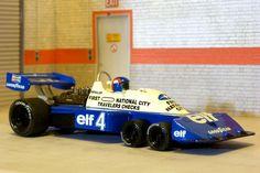 Scalextric Planeta  CMP-1. Tyrrell P-34. 1976 Sweden GP. Patrick Depailler. #slotcar