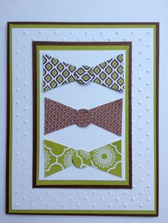 Hey, I found this really awesome Etsy listing at https://www.etsy.com/listing/48975583/stampin-up-bowtie-card-for-birthday-for