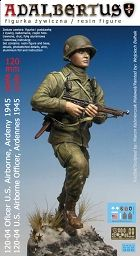 Next Band of Brothers figurine from Adalbertus. Ltn. Spears running at Fou, January 1945. 120mm resin miniature sculpted by Marcin Kaźmierczak. Set includes photoetch weapon details and insignia decals for all US Airborne divisions in Ardennes 1944/45.