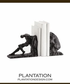 Sisyphus bookends. freaking awesome