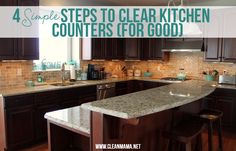 This week's focus is on the counters.  I'm focusing on the kitchen but if you need to focus on the bathroom counters you can do that too.  Make it a goal this week to keep your kitchen counters clear in between meals.  You'll be surprised how keeping your counters clear can help eliminate that disorganized... (read more...)