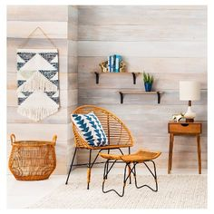 Target Wall Hangings unique blue + white eclectic home office wall decor idea
