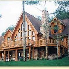 i will have a log house.