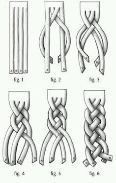 DIY Four Sting Braid. Excellent site with clear drawings of other braids and kno. - DIY Four Sting Braid. Excellent site with clear drawings of other braids and knots used in jewelry - Four Strand Braids, Four Braid, Hair Strand, Fabric Manipulation, Your Hair, Knots, Beauty Hacks, Beauty Secrets, Beauty Tips