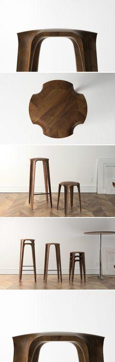 旧金山设计师Jonathan Rowell的作品,一组... 来自木智工坊 - 微博